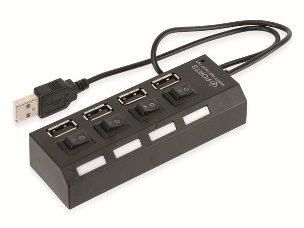 USB 2.0 Hub RED4POWER R4-U002B - Produktbild 2