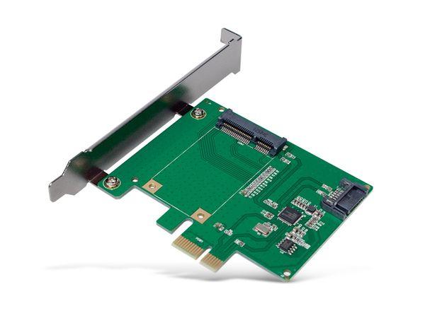 SATA-Controllerkarte LOGILINK PC0077, PCIe, mSATA SDD + SATA III SSD/HDD - Produktbild 2