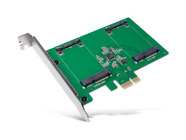 SATA-Controllerkarte LOGILINK PC0078, PCIe, 2x mSATA SDD - Produktbild 1