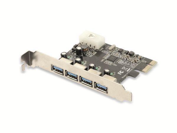 USB 3.0 PCIe-Karte RED4POWER R4-E002, 4-port