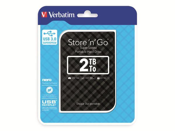 Externe USB 3.0 Festplatte VERBATIM Store 'n' Go, 2 TB, schwarz - Produktbild 2