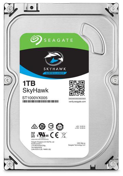 """SATA-HDD SEAGATE Skyhawk ST1000VX005, 3,5"""", 1TB, 7200RPM, 64MB"""