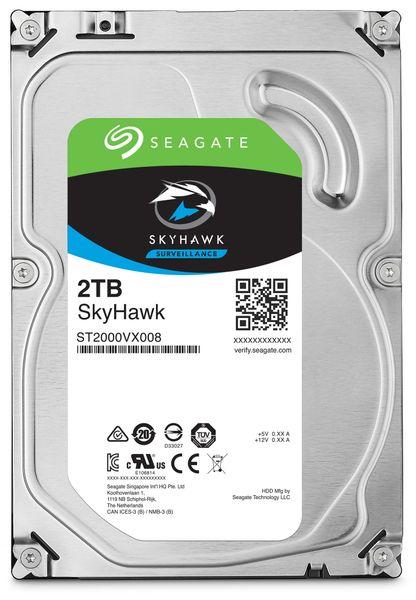 """SATA-HDD SEAGATE Skyhawk ST2000VX008, 3,5"""", 2TB, 7200RPM, 64MB"""