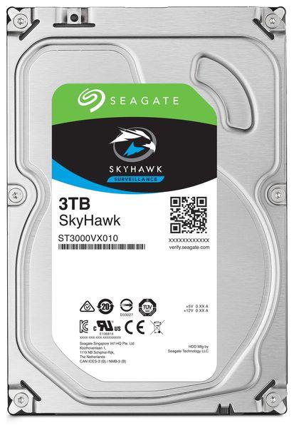 """SATA-HDD SEAGATE Skyhawk ST3000VX010, 3,5"""", 3TB, 7200RPM, 64MB"""