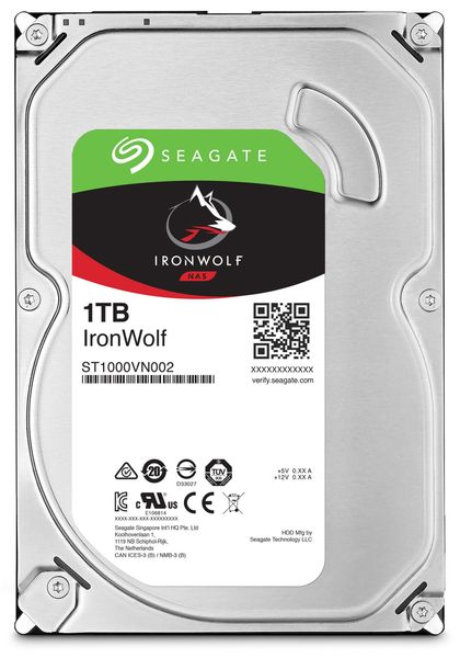 "SATA-HDD SEAGATE Ironwolf ST1000VN002, 3,5"", 1TB, 5900RPM, 64MB"