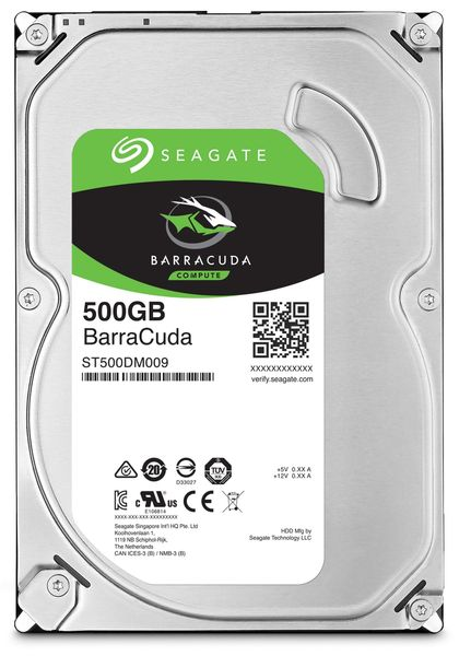 "SATA-HDD SEAGATE Barracuda ST500DM009, 3,5"", 500GB, 7200RPM, 32MB"