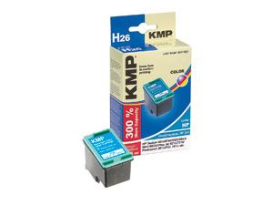 Tintenpatrone KMP, kompatibel für HP 343 (C8766E), Color