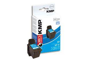 Tintenpatrone KMP, kompatibel für HP 21XL (C9351CE), schwarz