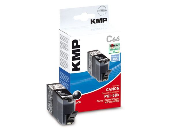 Tintenpatrone KMP, kompatibel für Canon PGI-5BK, schwarz