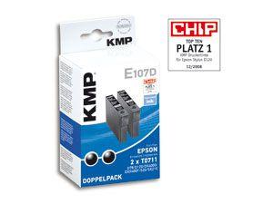Tintenpatronen-Set KMP, kompatibel für Epson T0711, schwarz