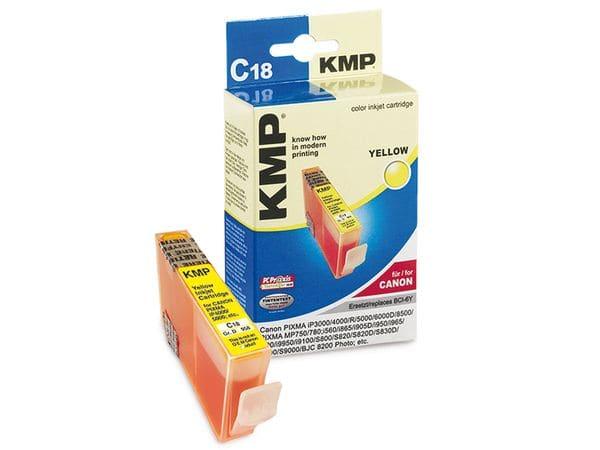 Tintenpatrone KMP, kompatibel für Canon BCI-6Y, gelb