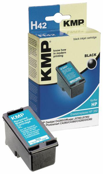Tintenpatrone KMP, kompatibel für HP 350XL (CB336EE), schwarz