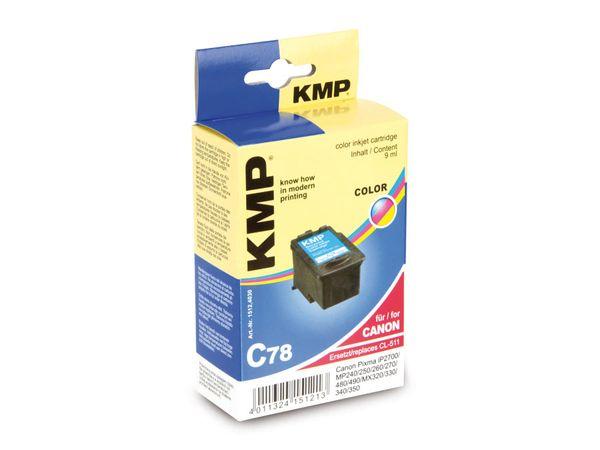Tintenpatrone KMP, kompatibel für Canon CL-511, 3-Color