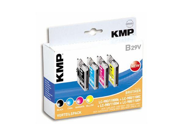 Tintenpatronen-Set KMP, kompatibel für Brother LC-1000BK/C/M/Y