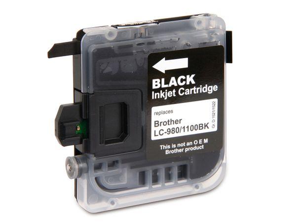 Tintenpatrone KMP, kompatibel für Brother LC-980/LC-1100BK, schwarz - Produktbild 2