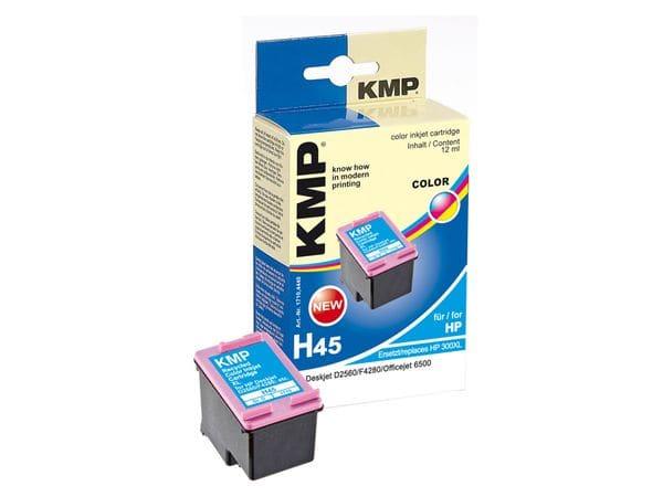 Tintenpatrone KMP, kompatibel für HP 300XL (CC644EE), 3-Color
