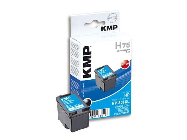 Tintenpatrone KMP, kompatibel für HP 301XL (CH563EE), schwarz