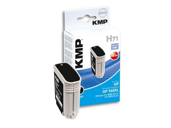 Tintenpatrone KMP, kompatibel für HP 940XL (C4906AE), schwarz