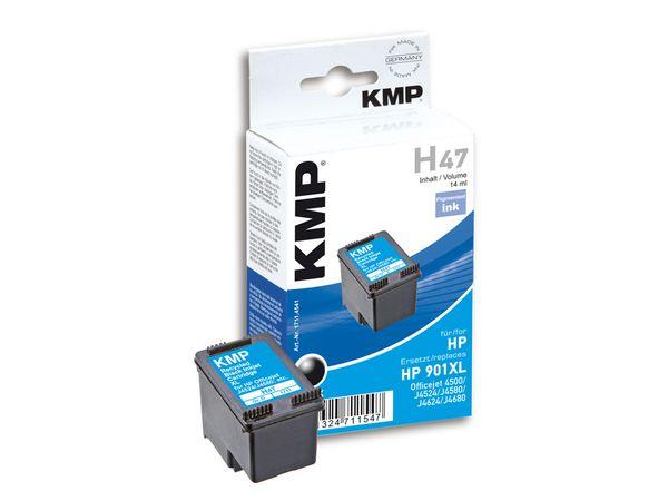 Tintenpatrone KMP, kompatibel für HP 901XL (CC654AE), schwarz