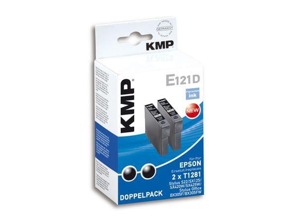 Tintenpatronen-Set KMP, kompatibel für Epson 2x T1281, schwarz