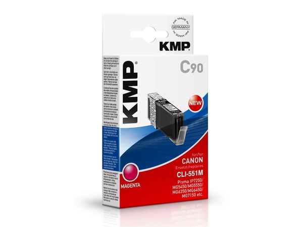 Tintenpatrone KMP, kompatibel für Canon CLI-551M XL, magenta
