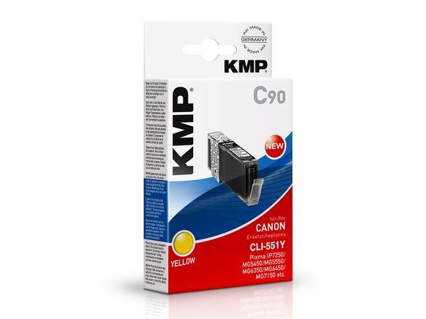 Tintenpatrone KMP, kompatibel für Canon CLI-551Y XL, gelb