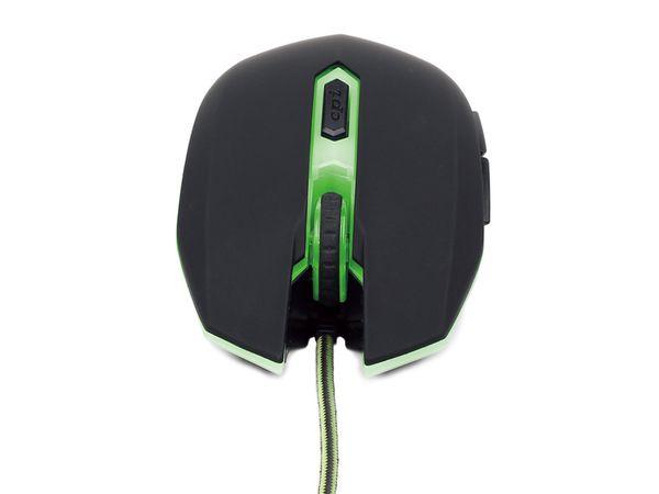 Gaming-Maus GEMBIRD, 2400dpi, grün - Produktbild 3