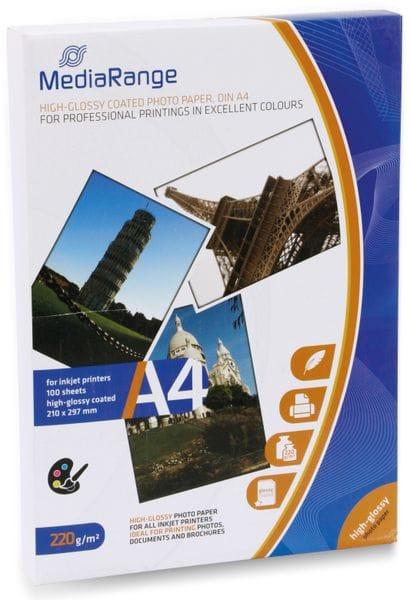 Fotopapier MEDIARANGE, DIN A4, 220 g/m², hochglanz