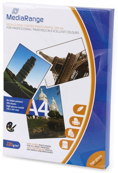 Fotopapier MEDIARANGE, DIN A4, 220 g/m², hochglanz - Produktbild 2