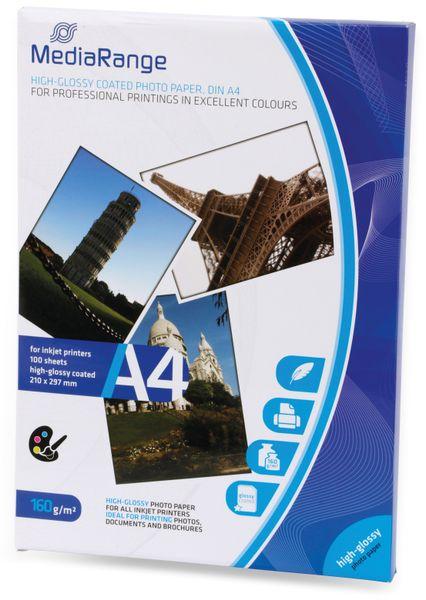 Fotopapier MEDIARANGE, DIN A4, 160 g/m², hochglanz - Produktbild 2