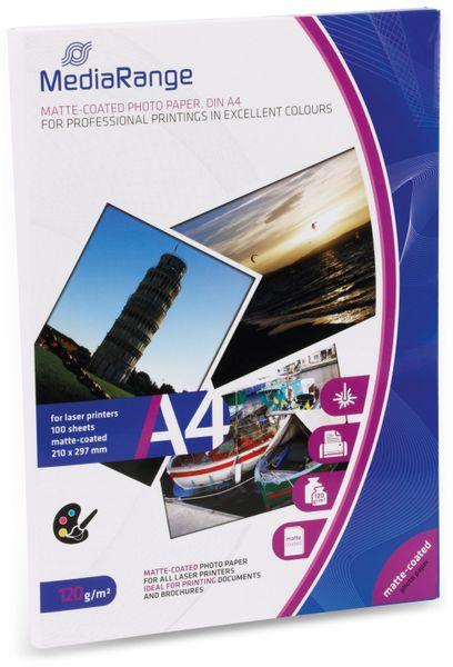 Fotopapier MEDIARANGE, DIN A4, 120 g/m², matt, für Laserdrucker