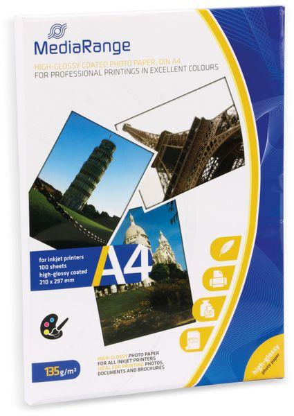 Fotopapier MEDIARANGE, DIN A4, 135 g/m², hochglanz