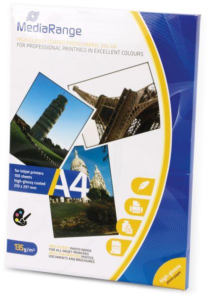 Fotopapier MEDIARANGE, DIN A4, 135 g/m², hochglanz - Produktbild 2