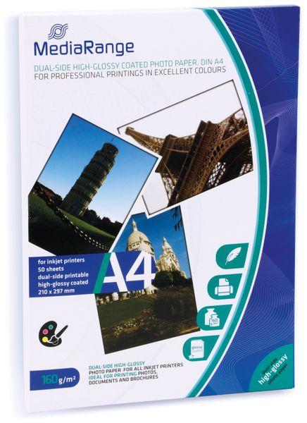 Fotopapier MEDIARANGE, DIN A4, 160 g/m², hochglanz