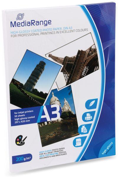 Fotopapier MEDIARANGE, DIN A3, 200 g/m², hochglanz