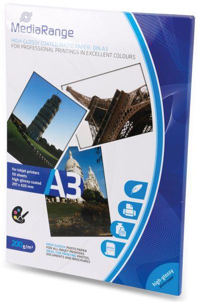 Fotopapier MEDIARANGE, DIN A3, 200 g/m², hochglanz - Produktbild 2