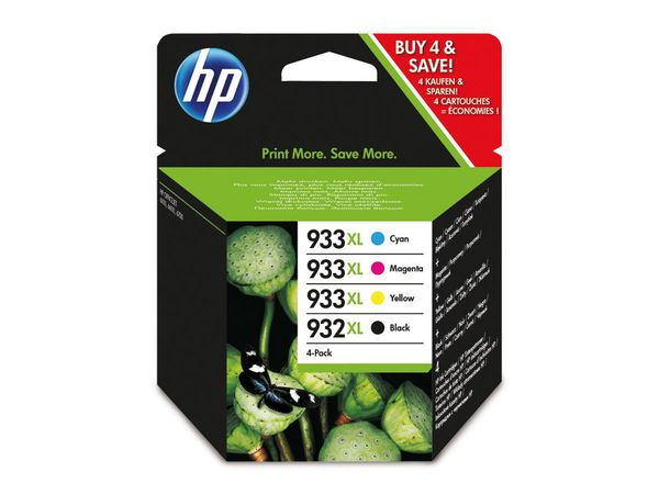 Tinten-Set HP 932XL + 933XL (C2P42AE), schwarz + farbig