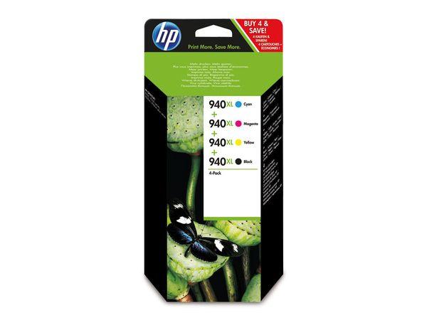 Tinten-Set HP 940XL (C2N93AE), schwarz + farbig