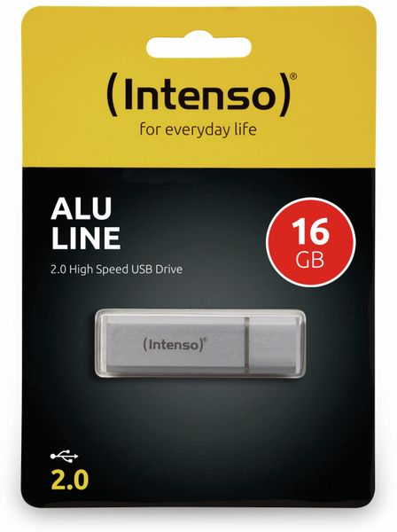 USB 2.0 Speicherstick INTENSO Alu Line, silber, 16 GB - Produktbild 2