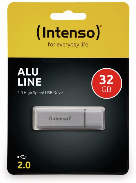 USB 2.0 Speicherstick INTENSO Alu Line, silber, 32 GB - Produktbild 2