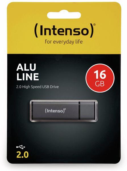 USB 2.0 Speicherstick INTENSO Alu Line, anthrazit, 16 GB - Produktbild 2