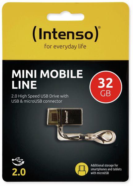 USB 2.0 Speicherstick INTENSO Mini Mobile Line, 32 GB - Produktbild 2