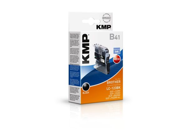 Tintenpatrone KMP, kompatibel für Brother LC-123BK, schwarz