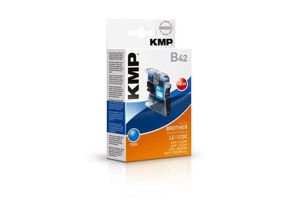 Tintenpatrone KMP, kompatibel zu Brother LC-123C, cyan