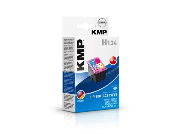 Tintenpatrone KMP, kompatibel für HP 300 (CC643EE), 3-Color