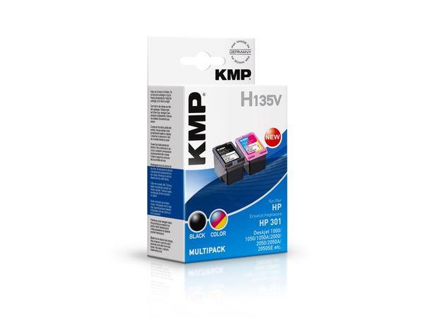 Tintenpatronen-Set KMP, kompatibel für HP 301 (CH561EE/CH562EE)