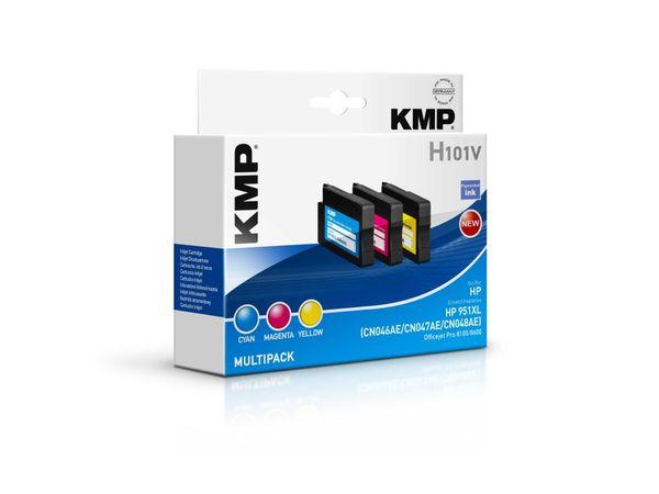 Tintenpatronen-Set KMP, kompatibel für HP 951XL (CN046AE/CN047AE/CN048AE)