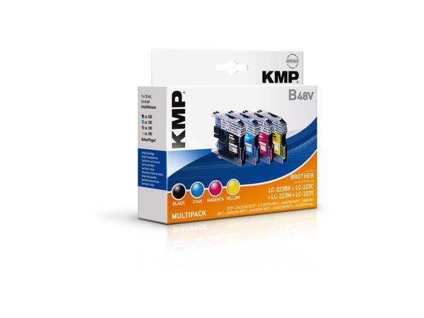 Tintenpatronen-Set KMP, kompatibel zu Brother LC-223BK/c/m/y