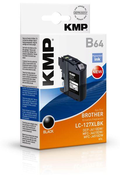 Tintenpatrone KMP, kompatibel zu Brother LC127XLBK, schwarz
