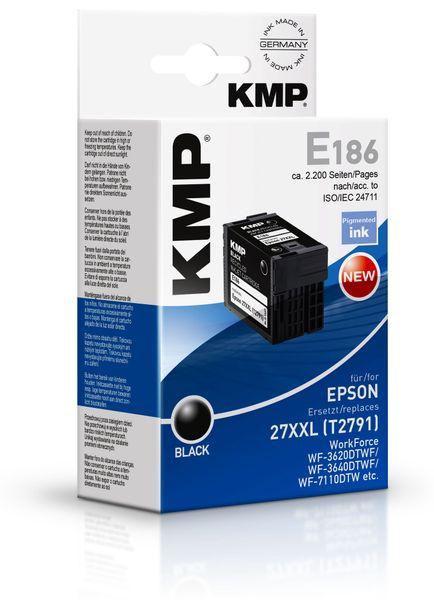 Tintenpatrone KMP, kompatibel zu Epson 27XXL (T2791), schwarz